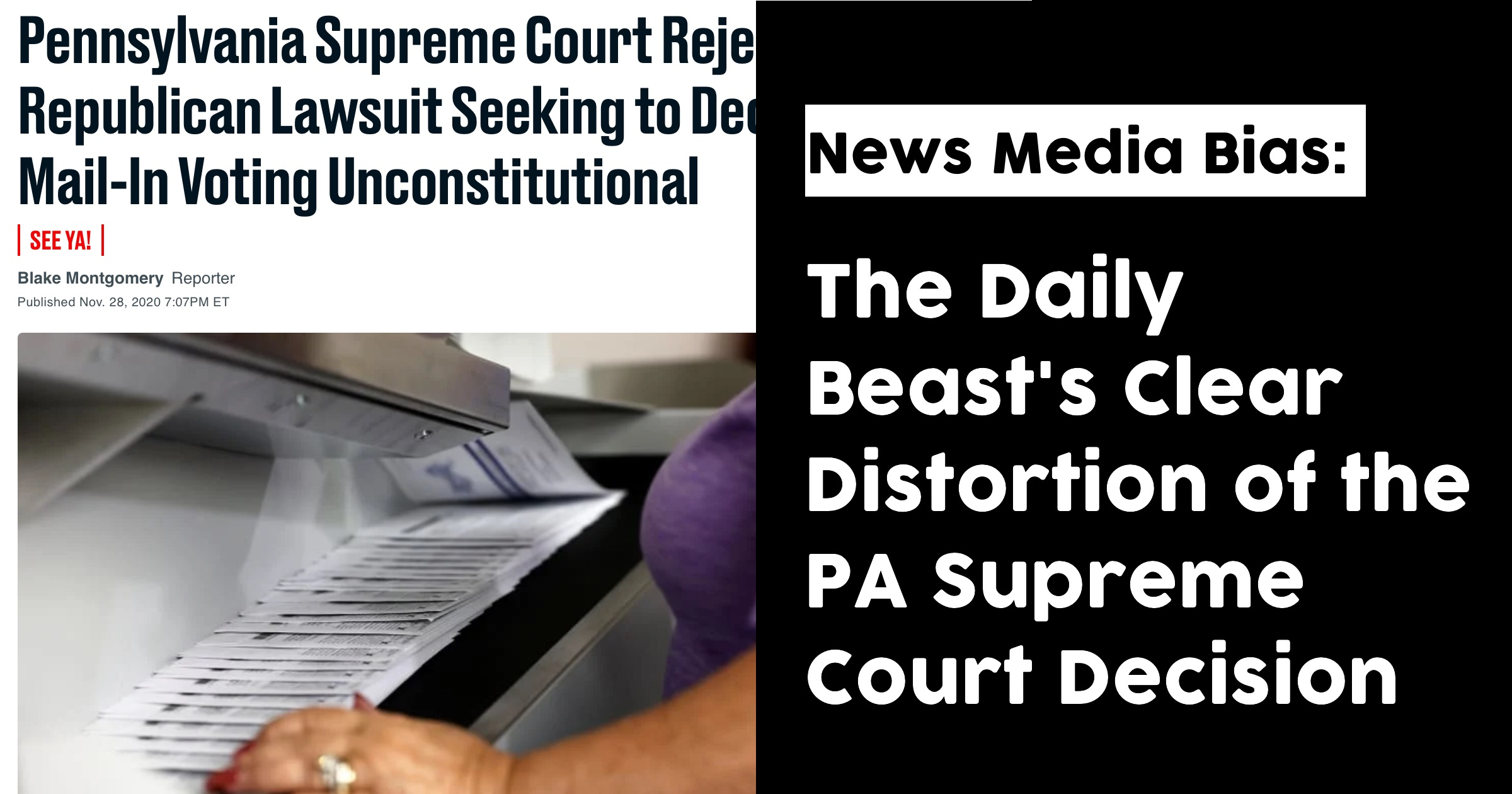 The Daily Beast's Purposeful Distortion of the PA Supreme Court
