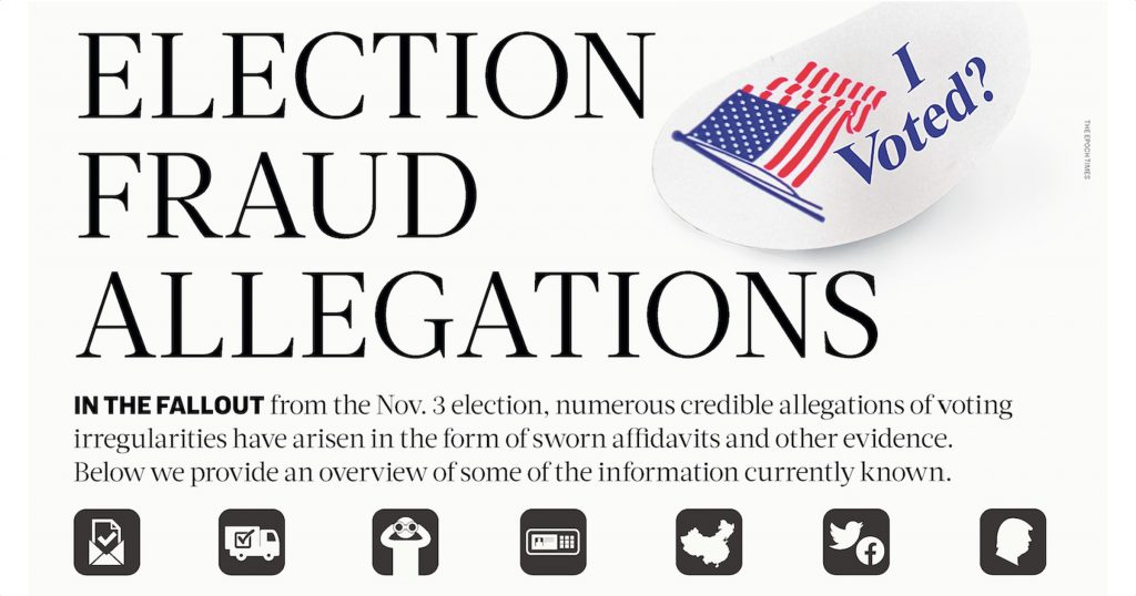 Voter Fraud Allegations Infographic Article header